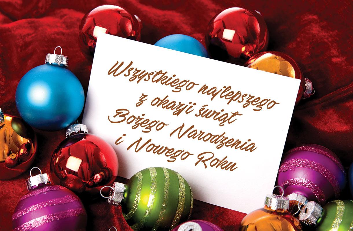 Życzenia z okazji Bożego Narodzenia i Nowego Roku